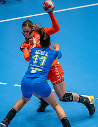 Tessa van Zijl of Netherlands, Ana Abina of Slovenia in action during the Women's friendly match between Netherlands and Slovenia at De Maaspoort on march 19, 2021 in Den Bosch, Netherlands (Photo by RHF Agency/Ronald Hoogendoorn)