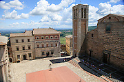 The 17th century Cathedral and 15th century Campanile of Santa Maria Assunta (The Duomo) Montepulciano, Tuscany, Italy