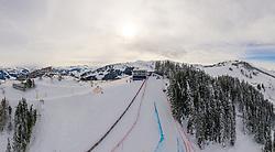 23.01.2019, Streif, Kitzbühel, AUT, Kitzbühel, Herren, Vorbericht, im Bild Übersicht Starthaus der Streif // Overview Starthouse of the Streif during the preperation for the men's FIS ski alpine world cup at the Streif in Kitzbühel, Austria on 2019/01/23. EXPA Pictures © 2019, PhotoCredit: EXPA/ Johann Groder