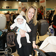 London,England, UK ; 19th Feb 2016 : Gemma Bissix with her daughter Juliette Ruse attend the Baby Show 2016 at Excel London. Photo by See Li