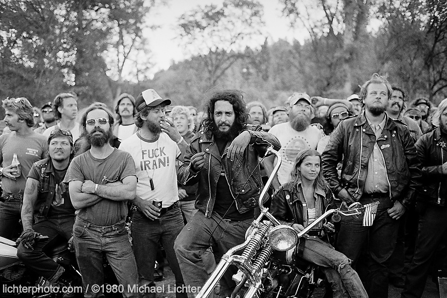 Faces, City Park. Sturgis, SD. 1980<br /> <br /> Limited Edition Print from an edition of 50. Photo ©1980 Michael Lichter.<br /> <br /> Description: City Park was a world of its own, a protective sanctuary for many. Inside its gates, little existed beyond. Such an odd collection of personalities, backgrounds, and faces. The heart of America.