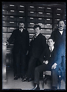 office workers in the filing cabinet room France ca 1920s