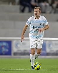 Jonas Henriksen (FC Helsingør) under kampen i 1. Division mellem FC Helsingør og Silkeborg IF den 11. september 2020 på Helsingør Stadion (Foto: Claus Birch).