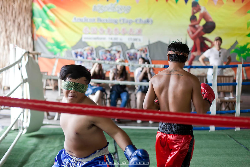 Blinded Mouy Thai fighters