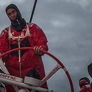 Leg 3, Cape Town to Melbourne, day 03,  Blair Tuke and Louis Sinclair on board MAPFRE. Photo by Jen Edney/Volvo Ocean Race. 12 December, 2017.