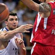 Anadolu Efes's Estaban BATISTA during their Two Nations Cup basketball match Anadolu Efes between Olympiacos at Abdi Ipekci Arena in Istanbul Turkey on Sunday 02 October 2011. Photo by TURKPIX