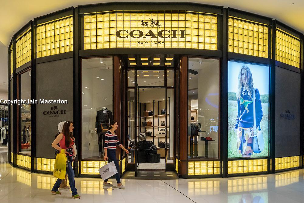 Coach fashion  shop in Dubai Mall Dubai United Arab Emirates