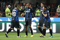 """Esultanza Diego Milito Inter dopo il gol 2-0 .Goal celebration.Milano 09/12/2012 Stadio """"San Siro"""".Football Calcio Serie A 2012/13.Inter v Napoli.Foto Insidefoto Paolo Nucci."""
