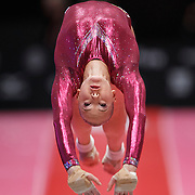 Lieke Wevers of the Netherlands performs on the Vault during the Women's All-Round Final at the 46th FIG Artistic Gymnastics World Championships in Glasgow, Britain, 29 October 2015.
