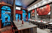 Commercial Interiors Restaurant Photography: Santos Restaurant, 191 Rue saint Paul, Old Montreal, Quebec, Canada