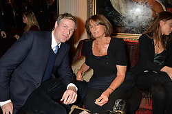 ZAC GOLDSMITH MP and his mother LADY ANNABEL GOLDSMITH at the Pig Pledge Evening at Club no41, 41 Conduit Street, London on 10th March 2014.