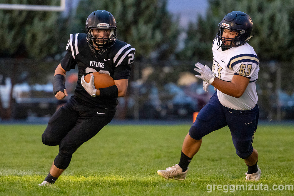Eli Aldred, Leon Le. Vale High School vs La Pine High School football game at Frank Hawley Stadium in Vale, Oregon on September 10, 2021.