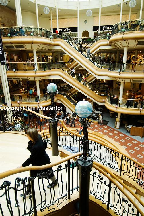 Interior of historic upmarket Prices Square shopping mall in Buchanan Street Glasgow Scotland