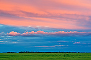 Clouds at sunset on the Canadian Prairie<br />Dugald<br />Manitoba<br />Canada