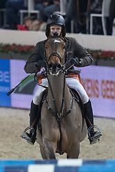Spits Patrick (BEL) - Witney vd Dwerse Hagen<br /> KBC & Verzekeringen Prijs<br /> Flanders Christmas Jumping - Mechelen 2012<br /> © Dirk Caremans