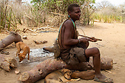 Hadzabe hunters on a hunting expedition. The Hadza, or Hadzabe, are an ethnic group in north-central tanzania, living around Lake Eyasi in the Central Rift Valley and in the neighboring Serengeti Plateau.