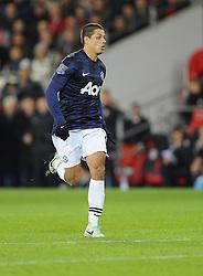 Man Utd Forward Javier Hernandez (MEX) - Photo mandatory by-line: Joseph Meredith/JMP - Tel: Mobile: 07966 386802 - 24/11/2013 - SPORT - FOOTBALL - Cardiff City Stadium - Cardiff City v Manchester United - Barclays Premier League.
