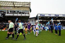 Tom Lockyer of Bristol Rovers leads out the teams - Rogan Thomson/JMP - 11/02/2017 - FOOTBALL - Memorial Stadium - Bristol, England - Bristol Rovers v Bradford City - Sky Bet League One.