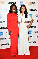 Viola Davis and Michelle Rodriguez arriving for the 62nd BFI London Film Festival Opening Night Gala screening of Widows held at Odeon Leicester Square, London.