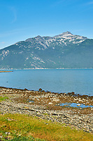 Haines Beach and Harbor Panorama. Image 3 of 11 images taken with a Nikon D300 camera and 18-200 mm VR lens (ISO 400, 34 mm, f/11, 1/500 sec). Raw images processed with Capture One Pro. Composite panorama created using AutoPano Giga.