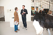 Adam Dant; David Shrigley; , Stephen Friedman Gallery , opening of the 2010 Frieze art fair. Regent's Park. London. 13 October 2010. -DO NOT ARCHIVE-© Copyright Photograph by Dafydd Jones. 248 Clapham Rd. London SW9 0PZ. Tel 0207 820 0771. www.dafjones.com.