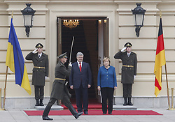 November 1, 2018 - Kiev, Ukraine - German Chancellor Angela Merkel and Ukrainian President Petro Poroshenko attend their meeting in Kiev. German Chancellor Angela Merkel travelled to the Ukrainian capital Kiev for talks the situation at eastern Ukraine, and about the Crimea, annexed by Russia. And also for discuss the strengthening of trade and economic and investment cooperation between Germany and Ukraine. (Credit Image: © Pavlo Gonchar/SOPA Images via ZUMA Wire)