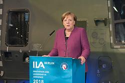 Germany, Berlin - April 25 2018.The German Chancellor Angela Merkel opens the  ILA Berlin International Aerospace Exhibition (Credit Image: © Koch/Davids/Ropi via ZUMA Press)