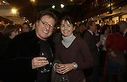 Mr. and Mrs. Michael Heath, Book party for 'The Dream of Rome' by Boris Johnson. Daunts bookshop. Marylebone High St. London.  1 February 2006. -DO NOT ARCHIVE-© Copyright Photograph by Dafydd Jones 66 Stockwell Park Rd. London SW9 0DA Tel 020 7733 0108 www.dafjones.com