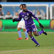 Kevin Molino, Orlando, in action during the New York City FC Vs Orlando City, MSL regular season football match at Yankee Stadium, The Bronx, New York,  USA. 18th March 2016. Photo Tim Clayton