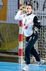 Goalkeeper of Krim Jelena Grubisic at handball match of Round 3 of Champions League between RK Krim Mercator and Hypo Niederosterreich, on November 8, 2009, in Arena Kodeljevo, Ljubljana, Slovenia.  Krim won 35:24. (Photo by Vid Ponikvar / Sportida)