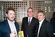 MATTHEW D'ANCONA; BRETT EASTON ELLIS; NICK RHODES, Dylan Jones hosts a party for Brett Easton Ellis and his new book.- Imperial Bedrooms. Mark's Club. London. 15 July 2010.  -DO NOT ARCHIVE-© Copyright Photograph by Dafydd Jones. 248 Clapham Rd. London SW9 0PZ. Tel 0207 820 0771. www.dafjones.com.