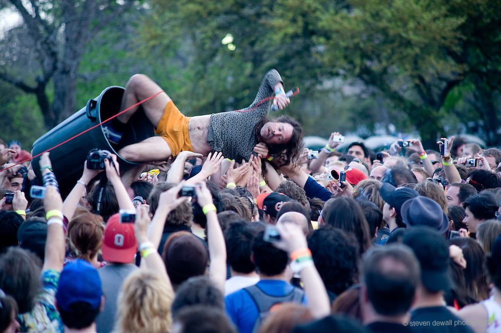 Monotonic perform Waterloo Park @ the SXSW Music Festival, Austin, Texas
