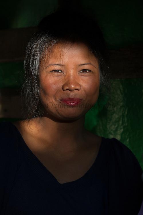 Khasi woman<br /> Barabazar market, Shillong<br /> Meghalaya,  ne India