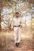 Portrait of trainee anti-poaching ranger smiling at Hlane Royal National Park, Eswatini