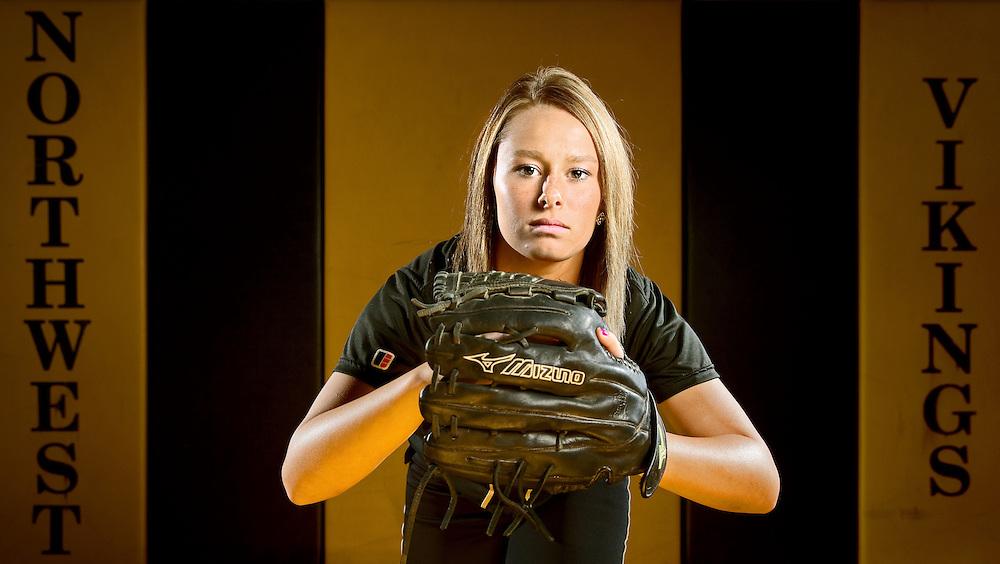 Grand Island Northwest third baseman Mikaela Keene poses for a portrait. (Independent/Matt Dixon)