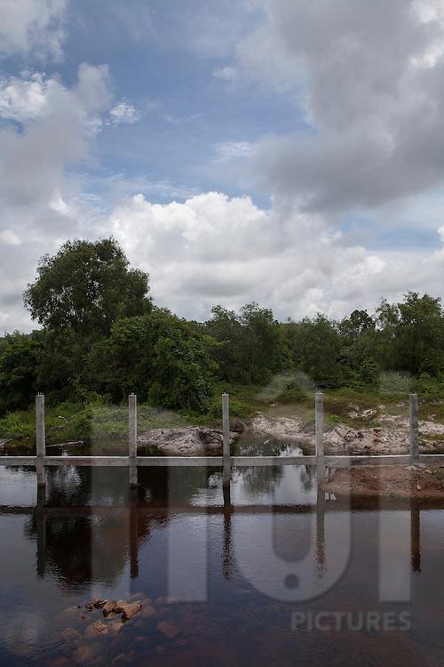 Building new road bridge in Phu Quoc Island, Vietnam, Asia 2012