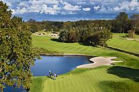 WASSENAAR  (NETH.) -  green van hole 9 , Golfclub Groendael in Wassenaar. COPYRIGHT KOEN SUYK
