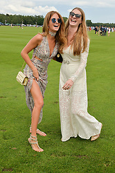 Left to right, MILLIE MACKINTOSH and CHLOE GRANT at the Cartier Queen's Cup Final 2016 held at Guards Polo Club, Smiths Lawn, Windsor Great Park, Egham, Surrey on 11th June 2016.