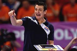 09-01-2016 TUR: European Olympic Qualification Tournament Rusland - Nederland, Ankara<br /> De Nederlandse volleybalsters hebben de finale van het olympisch kwalificatietoernooi tegen Rusland verloren. Oranje boog met 3-1 voor de Europees kampioen (25-21, 22-25, 25-19, 25-20) / Coach Giovanni Guidetti