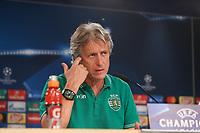 Sporting Lisboa's coach Jorge Fernando Pinheiro de Jesus during the press conference at Santiago Bernabeu Stadium, previously Champions League. September 13, 2016. (ALTERPHOTOS/Rodrigo Jimenez)