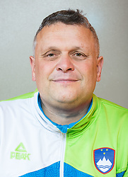 Branko Mihorko of Team Slovenia posing as a member of Slovenia Sitting Volleyball Team, on October 22, 2017 in Sempeter pri Zalcu, Slovenia. (Photo by Vid Ponikvar / Sportida)