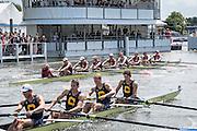 Henley Royal Regatta, Henley on Thames, Oxfordshire, 29 June-3 July 2015.  Saturday  14:08:10   02/07/2016  [Mandatory Credit/Intersport Images]<br /> <br /> Rowing, Henley Reach, Henley Royal Regatta.<br /> <br /> The Temple Challenge Cup<br /> Harvard University, U.S.A. v University of California, Berkeley, U.S.A.