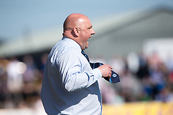 Forfar Athletic's manager Gary Bollan. Forfar Athletic 2 v 4 Annan Athletic, Scottish Football League Division Two game played 6/5/2017 at Station Park.