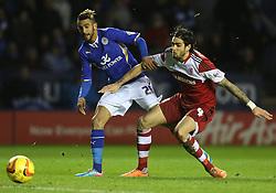 Leicester City's Riyad Mahrez shoots at goal - Photo mandatory by-line: Matt Bunn/JMP - Tel: Mobile: 07966 386802 25/01/2014 - SPORT - FOOTBALL - King Power Stadium - Leicester - Leicester City v Middlesbrough - Sky Bet Championship
