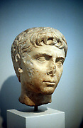 Alexander the Great (Alexander III of Macedon) 356-323 BC.  Greek contemporary bust showing Alexander as a boy. Athens Museum