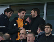 Alex Bruce of Hull City talks to England manager Gareth Southgate during the English Premier League match at the KCOM Stadium, Kingston Upon Hull. Picture date: December 30th, 2016. Pic Simon Bellis/Sportimage