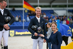 Podium Sires, Thomas Gilles, Melchior Judy Ann<br /> FEI WBFSH Jumping World Breeding Championship for Young Horses<br /> Lanaken 2021<br /> © Hippo Foto - Julien Counet<br />  24/09/2021
