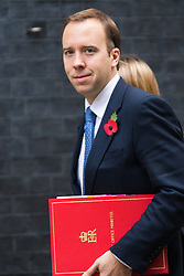Downing Street, London, November 3rd 2015.  Minister for the Cabinet Office Matthew Hancock arrives at 10 Downing Street to attend the weekly cabinet meeting. /// Licencing: Paul@pauldaveycreative.co.uk Tel:07966016296 or 020 8969 6875