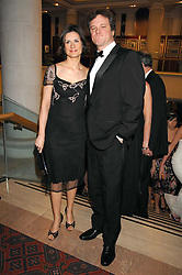 COLIN FIRTH and his wife at the Feast of Albion a sumptious locally-sourced banquet in aid of The Soil Association held at The Guildhall, City of London on 12th March 2008.<br />