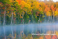 64776-02018 Council Lake in fall color Alger Co.  MI